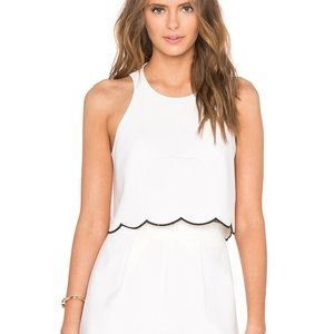 Kendall and Kylie Scallop Crop Top White Medium